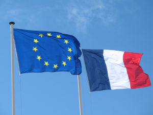 drapeau euro et drapeau france