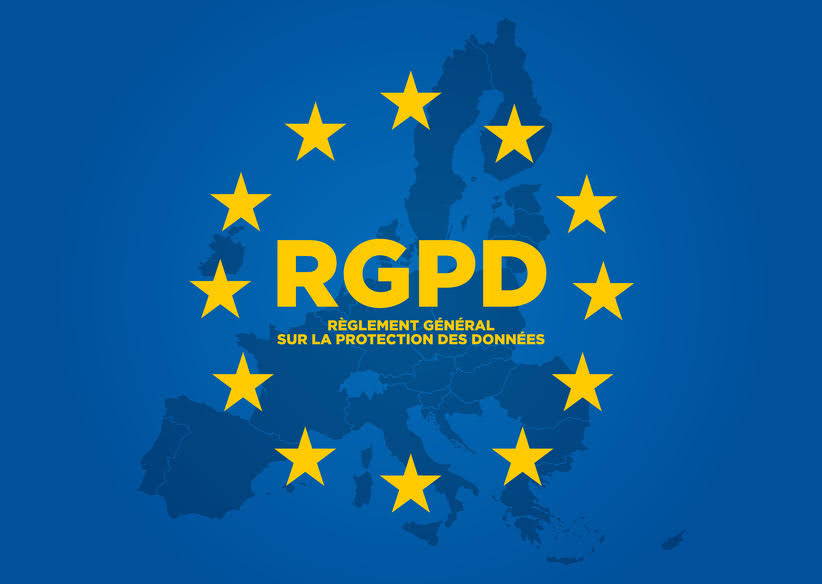 carte de l'Europe mention RGPD