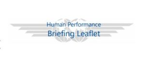 human performance briefing leaflet Ifalpa logo